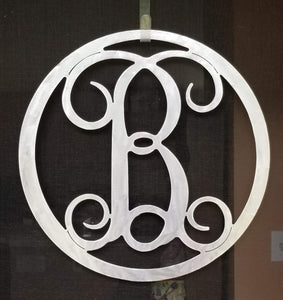 Circle Vine Metal Monogram