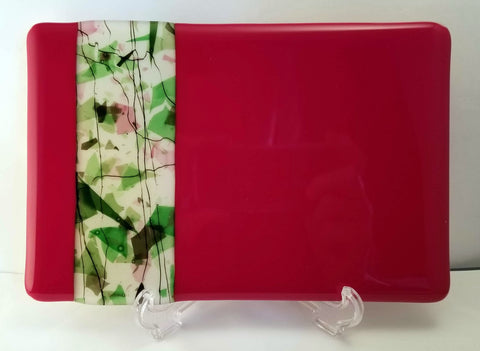 Fused Glass Holiday Gathering Cheese Board