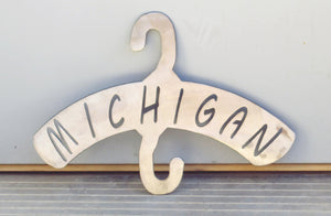 Michigan Plasma Cut Plant Hanger - Cat Fly Designs