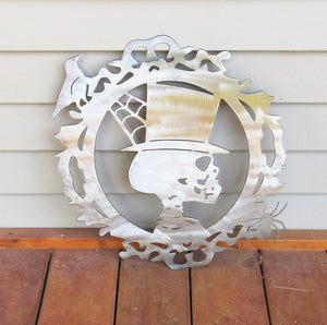 Halloween Skeleton Plasma Cut Wall or Door Hanging - Cat Fly Designs
