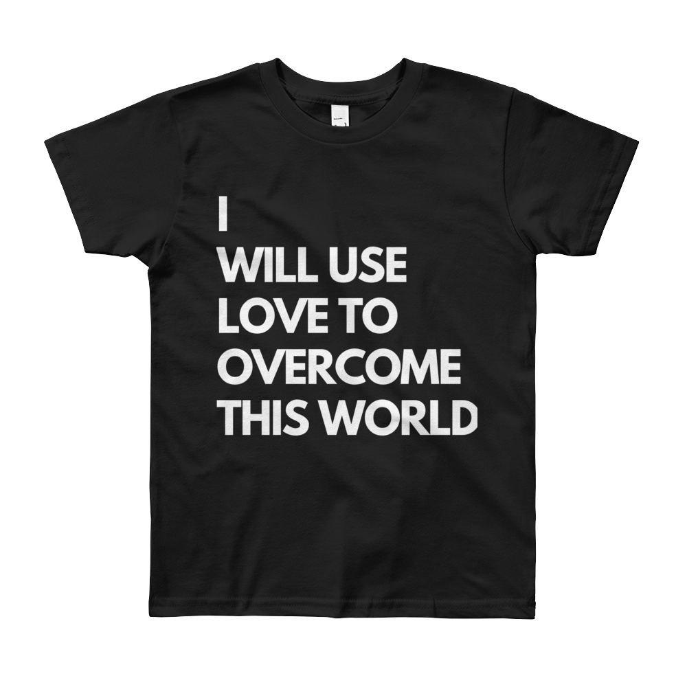 I Will Use Love Youth Short Sleeve American Apparel T-Shirt