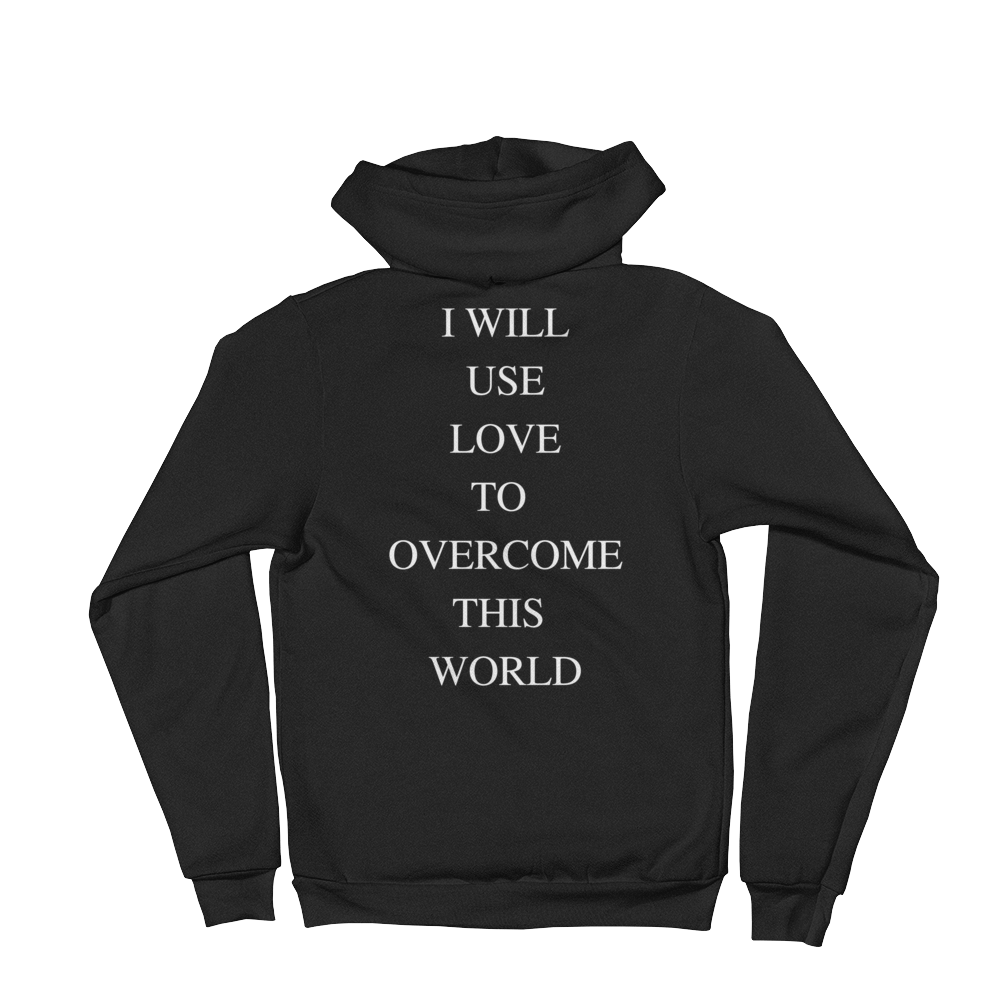 I Will Use Love To Overcome This World Women's American Apparel Hoodie