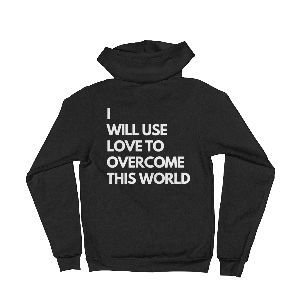 I Will Use Love B&W Icon American Apparel Unisex Hoodie