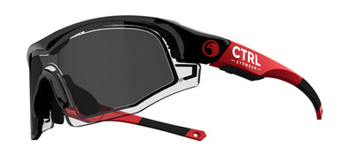 CTRL ONE Sports Eyewear Black & Red  / Smoke Lens