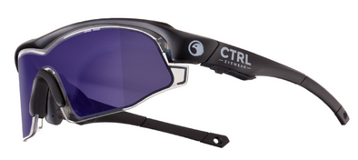 CTRL™ ONE Matte Black, Mirror Logo, Blue Lens