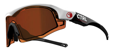 CTRL ONE Sports Eyewear White & Black / Amber Lens