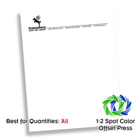 One Color Midrange Letterhead