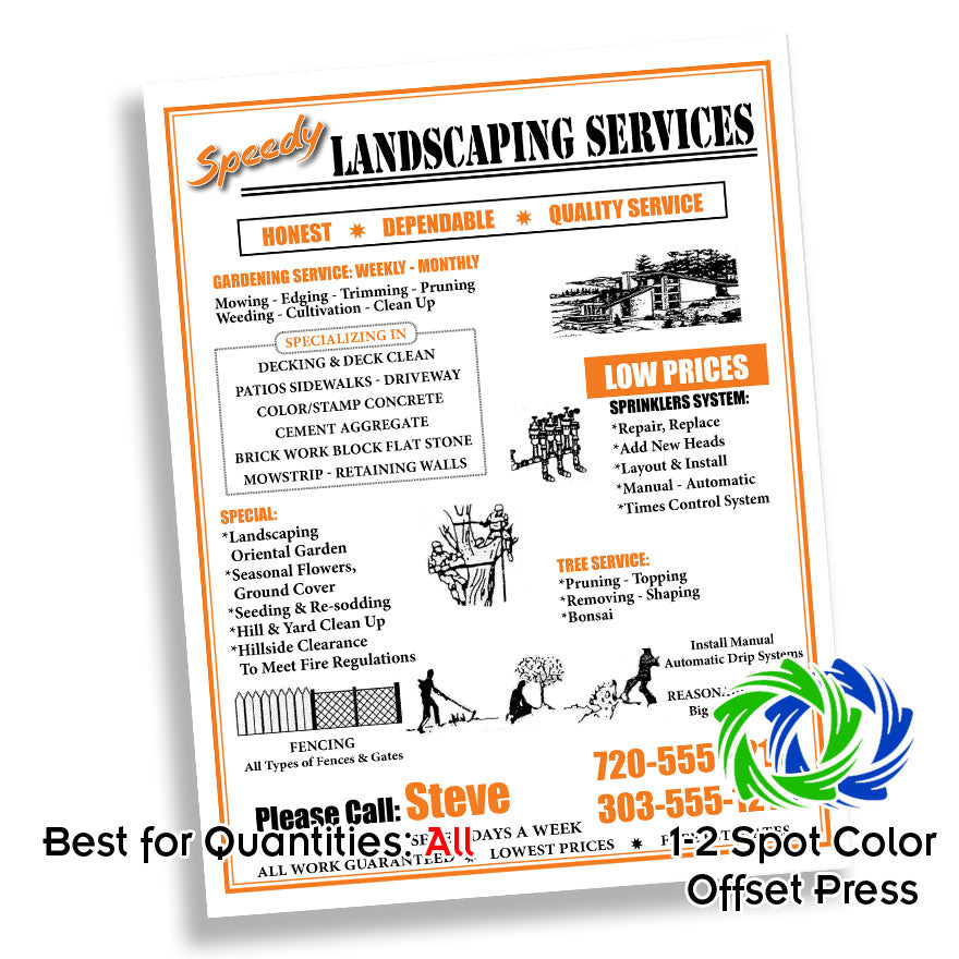 Two Color Two Sided Flyers