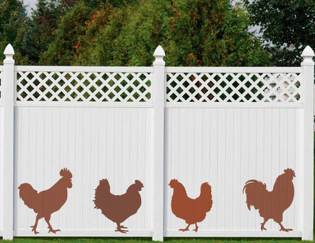 Naturescapes Chickens Decorative Backyard Paint/Stain Mask/Stencil