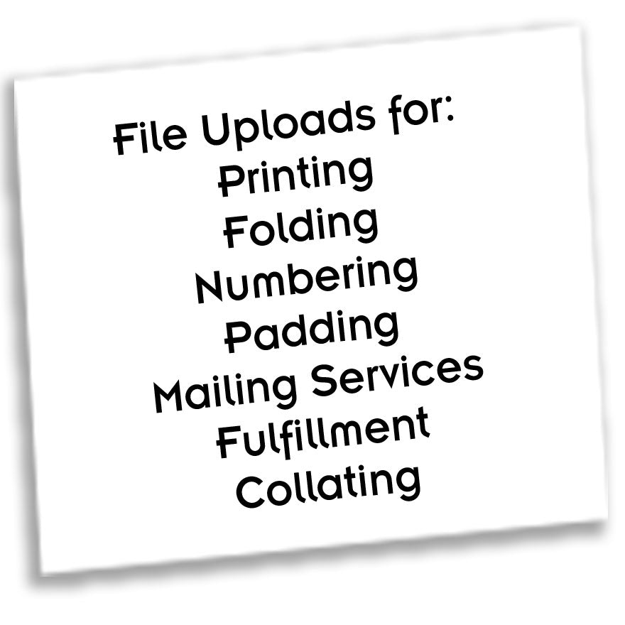 File Uploads - FREE ESTIMATES