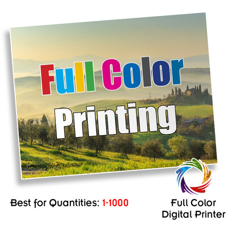 "100# Gloss Text 8.5 x 11"" Digital Full Color Front and Back"
