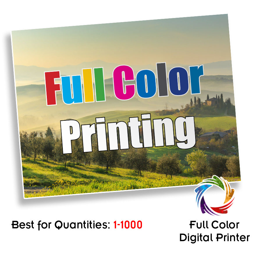 "80# Gloss Text 8.5 x 11"" Digital Full Color Front and Back"