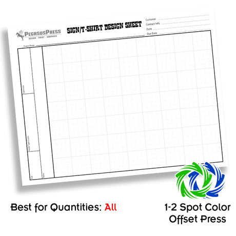"8.5 x 11"" One Color 3pt Carbonless Forms Front Side"