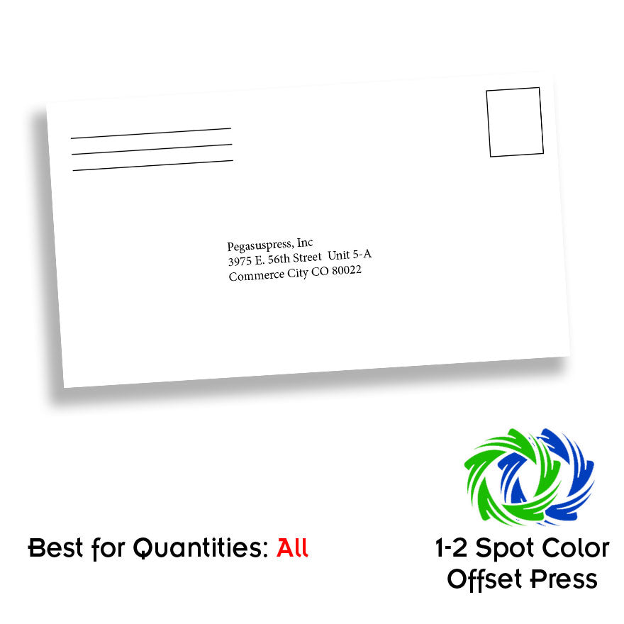 One Color #6 3/4 Envelope