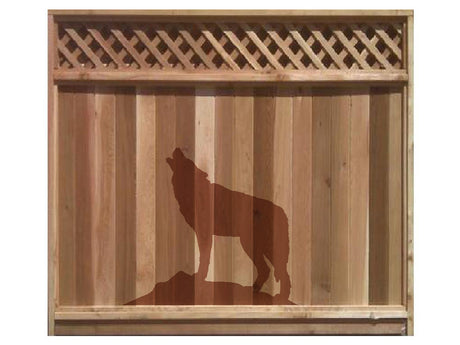 Naturescapes Wolf1 Decorative Backyard Paint/Stain Mask/Stencil