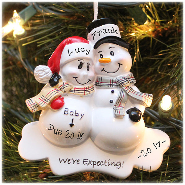 2f216043cc8e Personalized  We re Expecting  Ornament  FREE Customization