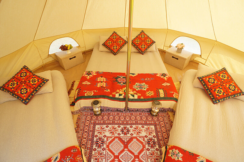 beds for glamping tent