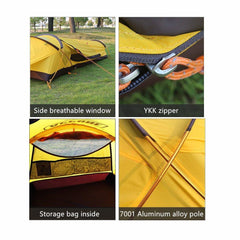 Dream House Waterproof Aluminum Alloy Frame Light Weight Camping Single Swag Tent