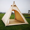 Dream House Three-Season Cotton Canvas Camping Pyramid Tent for 2~3 Person