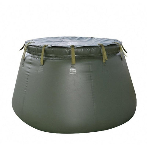 Foldable TPU Water Storage Tank in Green Color for Agriculture and Industry