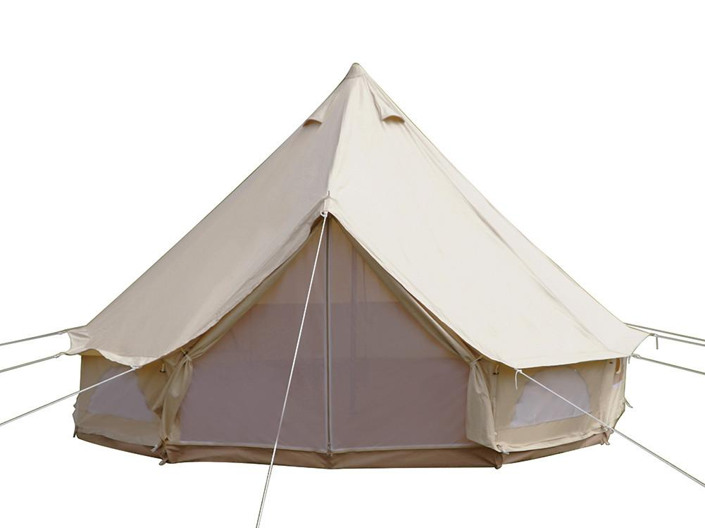 Dream House Outdoor Waterproof Cotton Canvas Family Camping Bell Tent Four Seasons Glamping Tent
