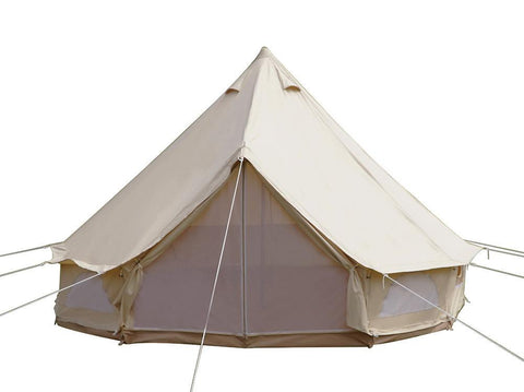 Used Waterproof Cotton Canvas Camping Bell Tent with Cheap Price