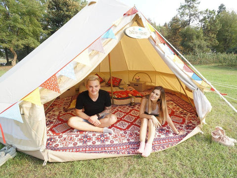 Used Waterproof Cotton Canvas Camping Bell Tent with Cheap Price Only Ship to Canada