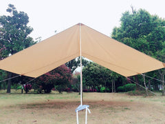 Used Waterproof Cotton Canvas Tent Awning Outdoor Shelter Tent Only Ship to US