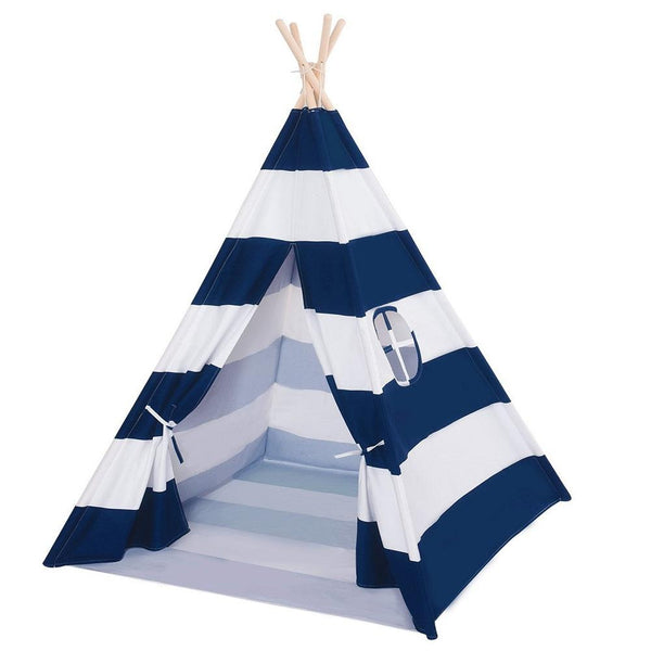 Dream House Indoor Cotton Canvas Kids Play Indian Teepee Tent with Mat