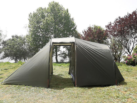 Used Waterproof Double Layers Camping Tent with Motorcycle Storage Room Only Ship to US