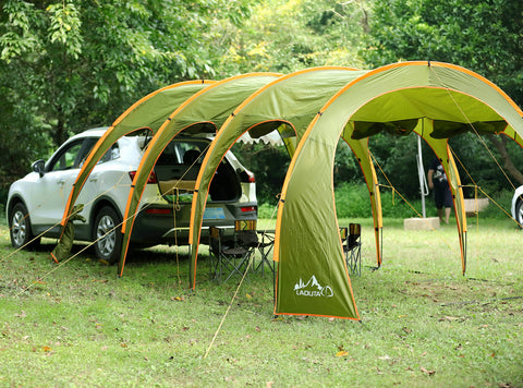 Waterproof Portable Family Camping Tunnel Tent Top Canopy Cover for Car BBQ