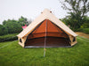 Used Luxury Waterproof Ripstop Polyester Cotton Plaid Cloth Family Camping Bell Tent