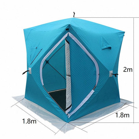 Square Quick Open Thermal Winter Ice Fishing Tent