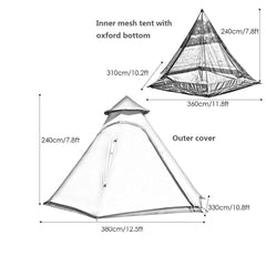 Used Double Layers Waterproof Family Camping Indian Teepee Only Ship to US