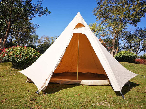 Waterproof Canvas Camping Indian Teepee Tent for 2 Person