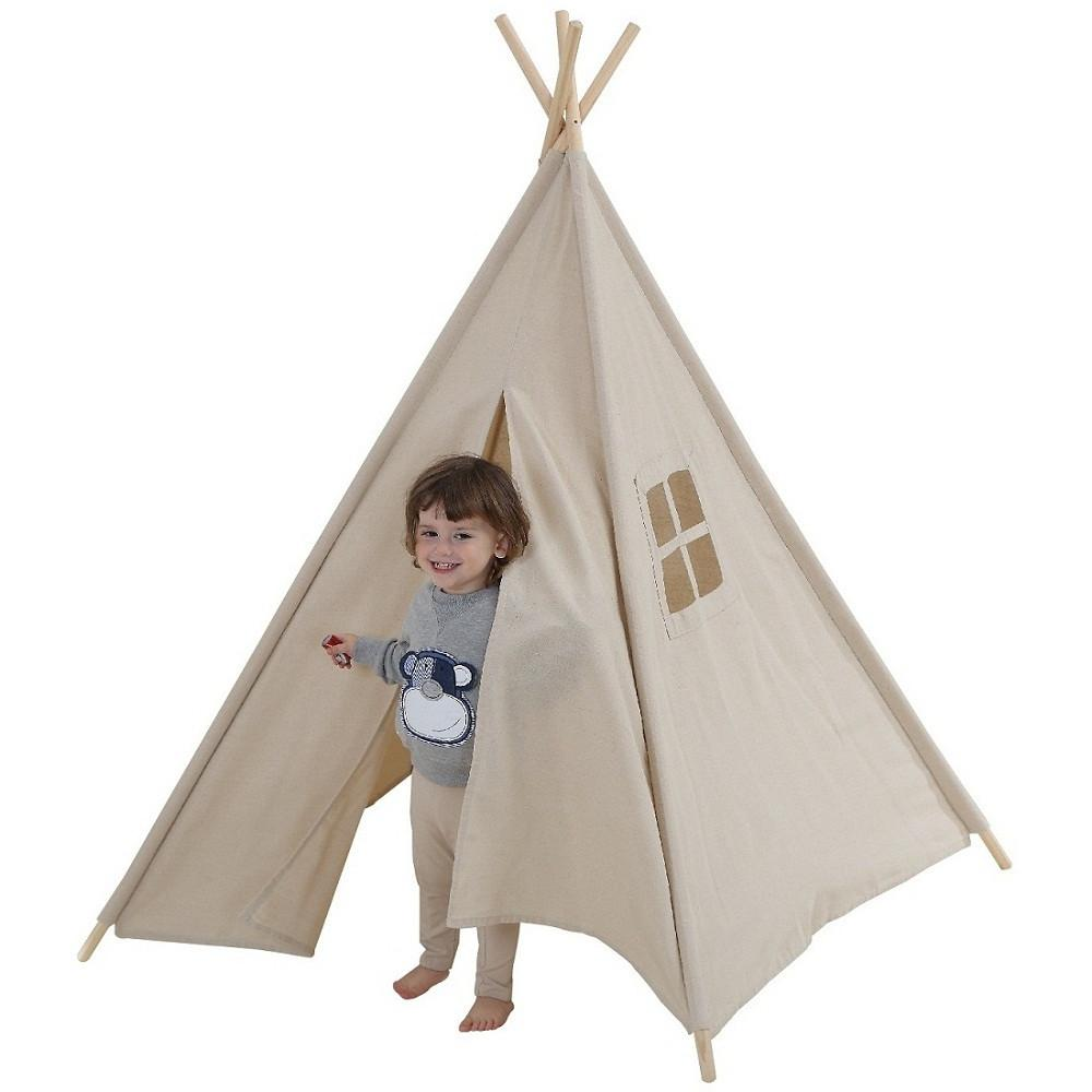 Dream House Breathable Nature Flax Boys and Girls Beige Playhut Tent  sc 1 st  DreamHouse Tent & Dream House Breathable Nature Flax Boys and Girls Beige Playhut Tent ...