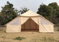 Used Large Canvas 10 Persons Camping Tent with Favorable Price Only Ship to US