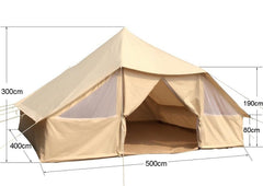 Dream House Large Outdoor Waterproof Cotton Canvas 4 Season Camping Tent for 10 Persons
