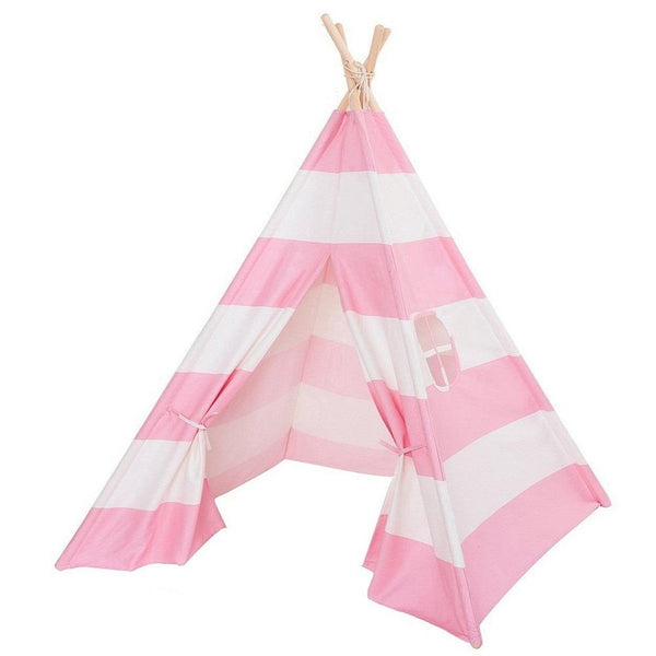 Dream House Classical Indoor Pure Cotton Canvas Toy Indian Teepee Tent for Toddler Children to Read and Play at Hide and Seek