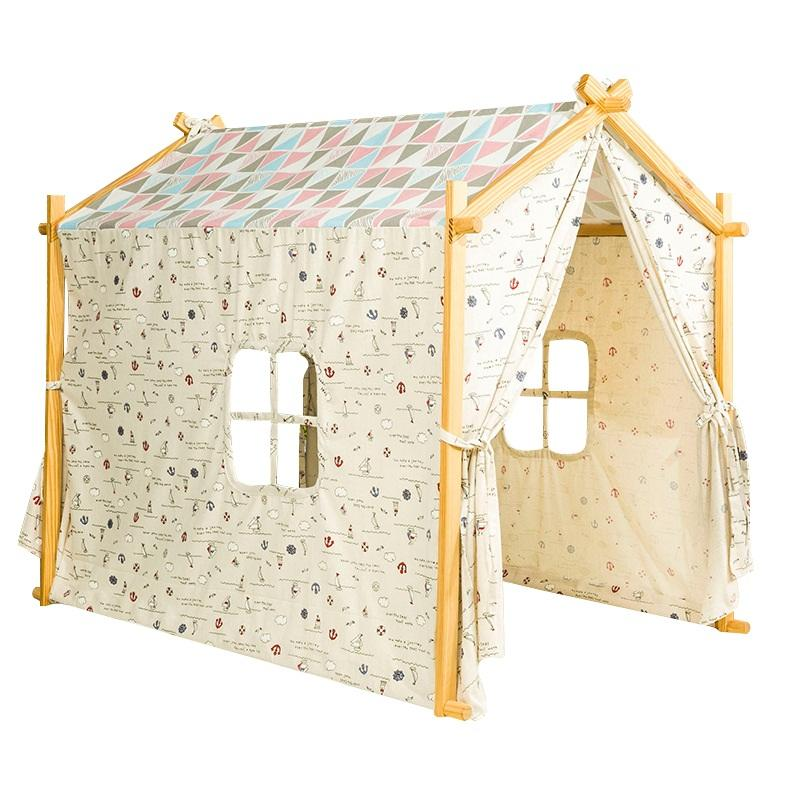 Dream House Indoor Cotton Canvas Classic Kids Play House Tent for Hideaway and Hideout