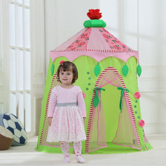 Dream House Foldable Indoor Children Play Princess Pop Up Castle Tent
