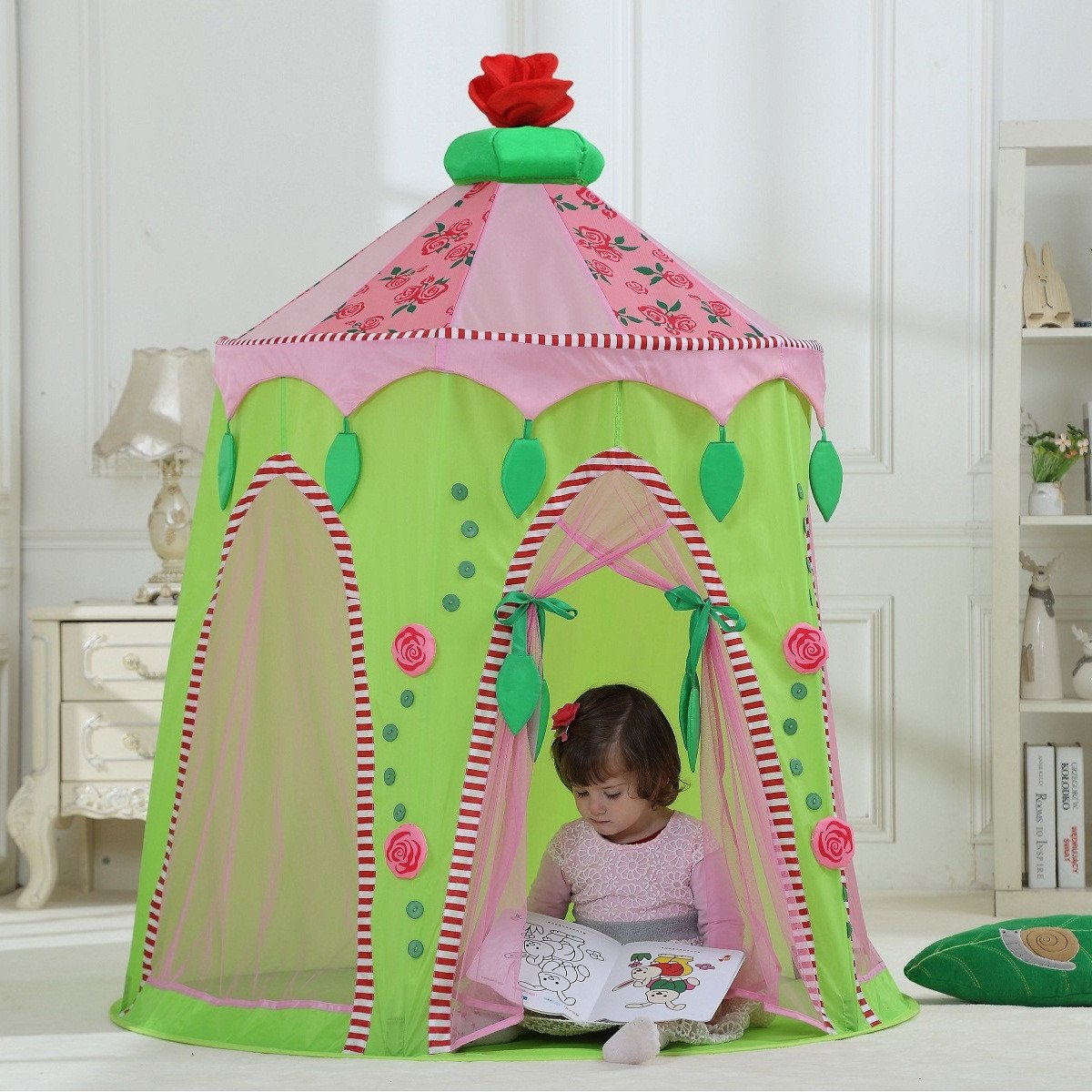 Dream House Foldable Indoor Children Play Princess Pop Up Castle Tent & Dream House Foldable Indoor Children Play Princess Pop Up Castle ...