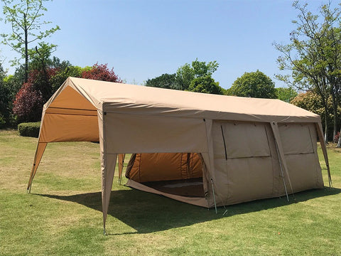 Dream House Double Layers Waterproof Safari Glamping Tent Campsite Hotel Cabin Tent