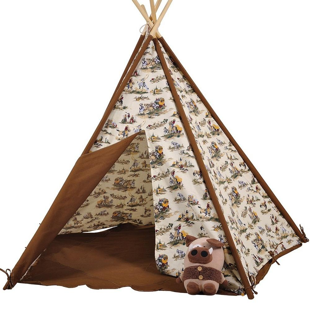 Dream House Indoor Cotton Canvas Cowboy Indian Teepee Tent for Boys Luxury Kids Playhouse  sc 1 st  DreamHouse Tent & Dream House Indoor Cotton Canvas Cowboy Indian Teepee Tent for Boys ...