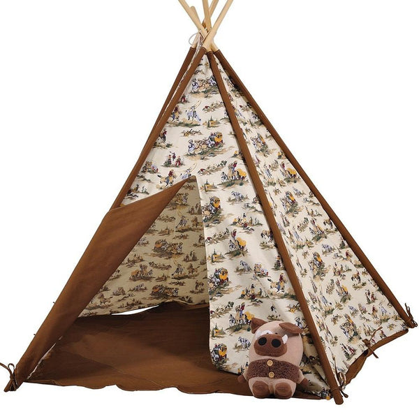 Dream House Indoor Cotton Canvas Cowboy Indian Teepee Tent