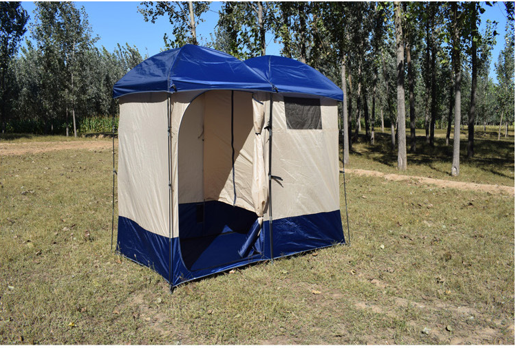 Dream House Outdoor Camping Double Shower Dressing Tent