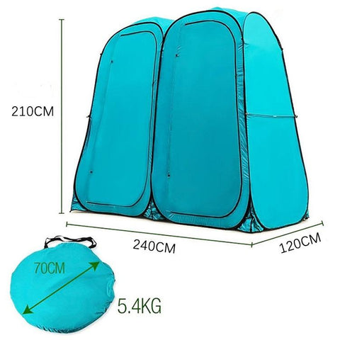 Dream House Waterproof Pop Up Camping Double Room Shower Tent