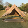 Diameter 3 Meter Waterproof Ripstop Polyester Cotton Plaid Cloth Tripod Frame Camping Bell Tent Central-Pole-Free Easily Contain a Queen Size Air Mattress