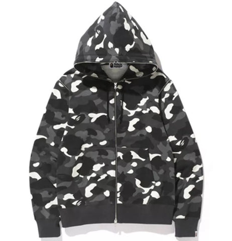 A Bathing Ape Bape City Camo Hoodie W/ Detachable Sleeves