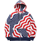Supreme 3M Reflective Logo Thermal Zip Up Flag